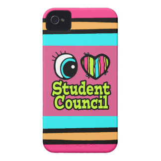 Bright Eye Heart I Love Student Council iPhone 4 Covers