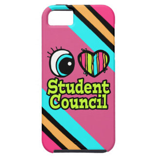 Bright Eye Heart I Love Student Council iPhone 5 Cases