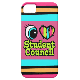 Bright Eye Heart I Love Student Council iPhone 5 Case