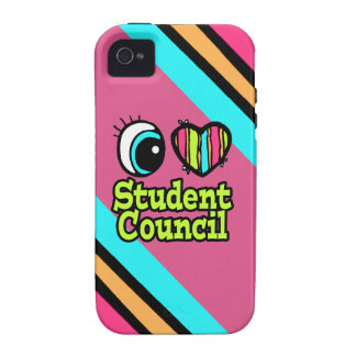 Bright Eye Heart I Love Student Council iPhone 4/4S Cases