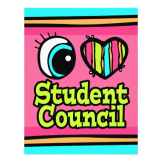 Bright Eye Heart I Love Student Council Flyers