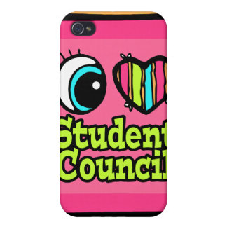 Bright Eye Heart I Love Student Council Covers For iPhone 4