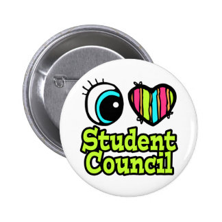 Bright Eye Heart I Love Student Council Pinback Button