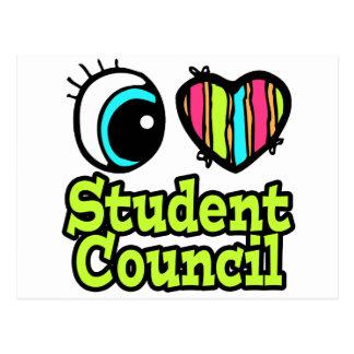 Bright Eye Heart I Love Student Council Postcard