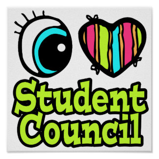 Bright Eye Heart I Love Student Council Poster