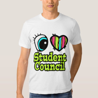 Bright Eye Heart I Love Student Council T Shirts