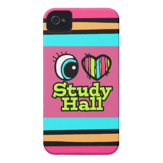 Bright Eye Heart I Love Study Hall iPhone 4 Case-Mate Cases
