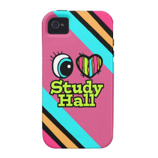 Bright Eye Heart I Love Study Hall Case For The iPhone 4
