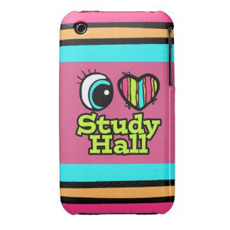 Bright Eye Heart I Love Study Hall iPhone 3 Covers