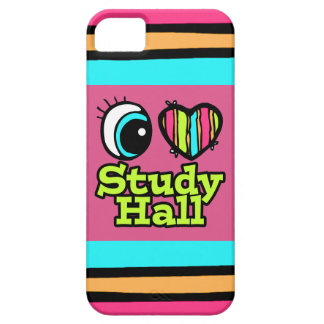 Bright Eye Heart I Love Study Hall iPhone 5 Case
