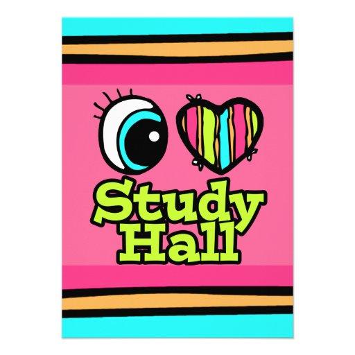 Bright Eye Heart I Love Study Hall Custom Invites