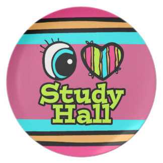 Bright Eye Heart I Love Study Hall Dinner Plates