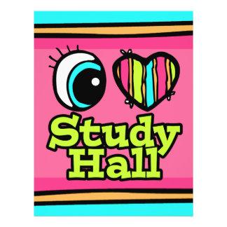 Bright Eye Heart I Love Study Hall Flyer Design
