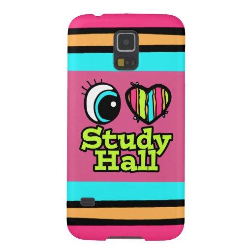 Bright Eye Heart I Love Study Hall Galaxy S5 Case