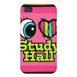 Bright Eye Heart I Love Study Hall iPhone 4 Cover