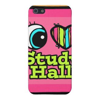 Bright Eye Heart I Love Study Hall iPhone 5 Cases