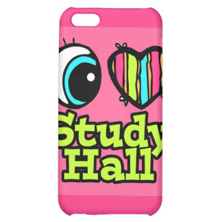Bright Eye Heart I Love Study Hall Case For iPhone 5C