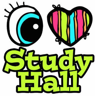Bright Eye Heart I Love Study Hall Photo Sculpture Keychain