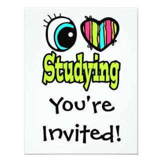 "Bright Eye Heart I Love Studying 4.25"" X 5.5"" Invitation Card"