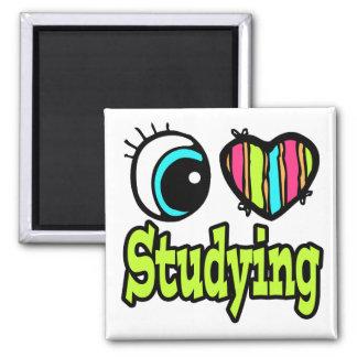 Bright Eye Heart I Love Studying Refrigerator Magnet