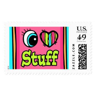 Bright Eye Heart I Love Stuff Postage Stamp