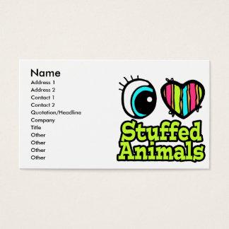 Bright Eye Heart I Love Stuffed Animals Business Card
