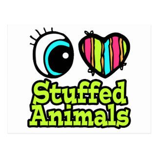 Bright Eye Heart I Love Stuffed Animals Postcard