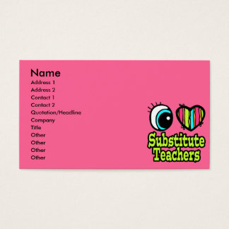 Substitute teacher business card allkdramas substitute teacher business card template teacher or substitute accmission Choice Image