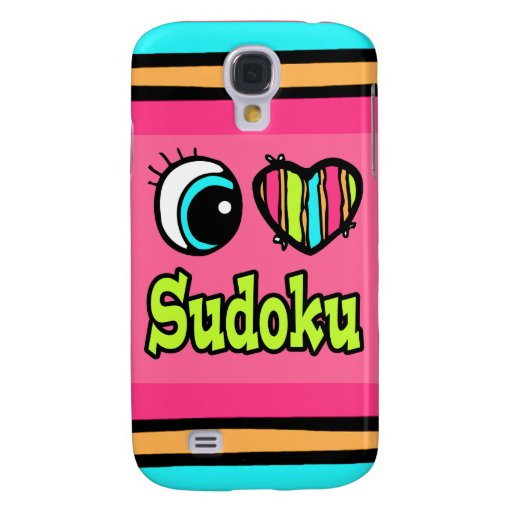 Bright Eye Heart I Love Sudoku Samsung Galaxy S4 Covers