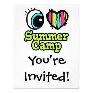 Bright Eye Heart I Love Summer Camp Invitation