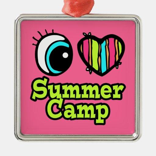 Bright Eye Heart I Love Summer Camp Ornament