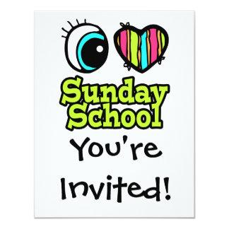 Bright Eye Heart I Love Sunday School Card
