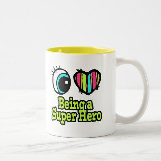 Bright Eye Heart I Love Super Hero Coffee Mug