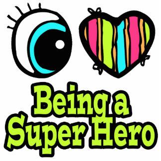 Bright Eye Heart I Love Super Hero Cut Outs
