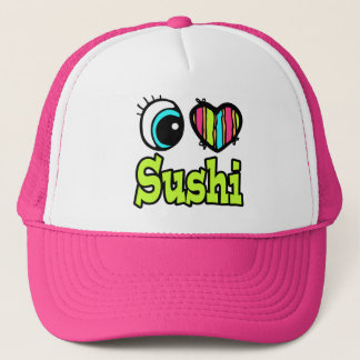 Bright Eye Heart I Love Sushi Trucker Hat