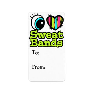 Bright Eye Heart I Love Sweatbands Personalized Address Label