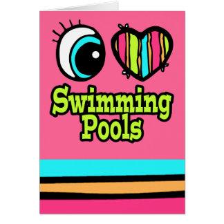 Bright Eye Heart I Love Swimming Pools Card