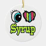 Bright Eye Heart I Love Syrup Christmas Ornament