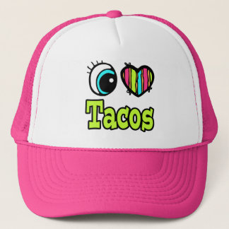 Bright Eye Heart I Love Tacos Trucker Hat