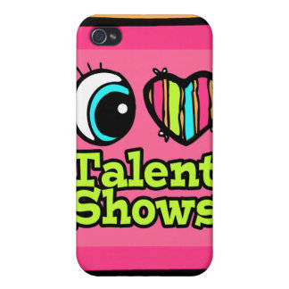 Bright Eye Heart I Love Talent Shows Cases For iPhone 4