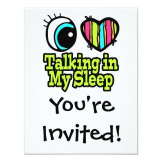 Bright Eye Heart I Love Talking in My Sleep Card