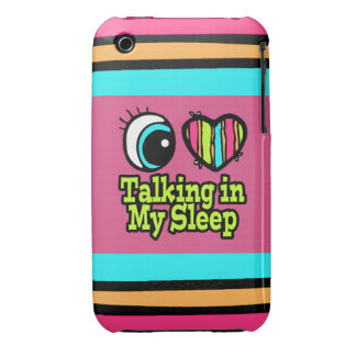 Bright Eye Heart I Love Talking in My Sleep iPhone 3 Case-Mate Case
