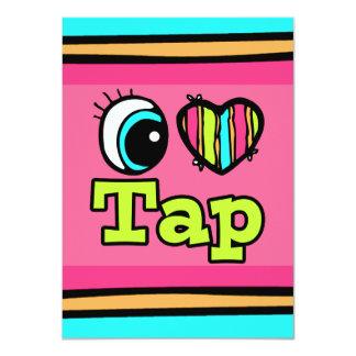 Bright Eye Heart I Love Tap 4.5x6.25 Paper Invitation Card