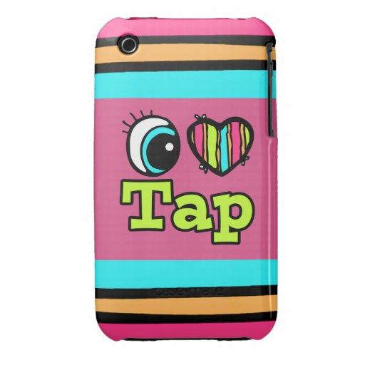 Bright Eye Heart I Love Tap Case-Mate iPhone 3 Case