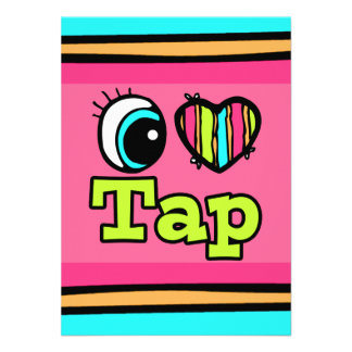 Bright Eye Heart I Love Tap Personalized Announcements