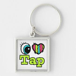 Bright Eye Heart I Love Tap Keychain
