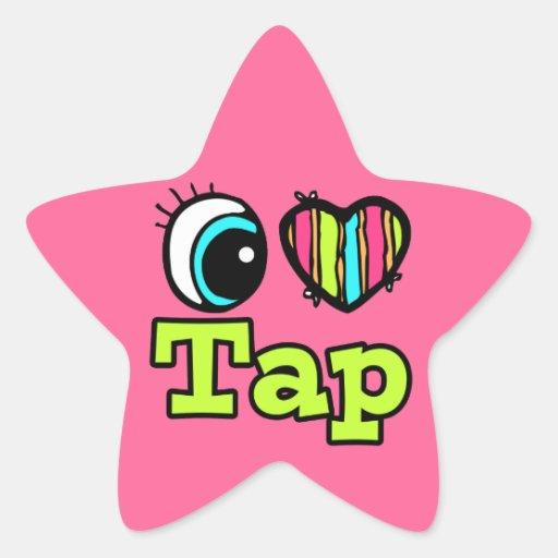 Bright Eye Heart I Love Tap Sticker