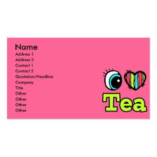 Bright Eye Heart I Love Tea Business Card