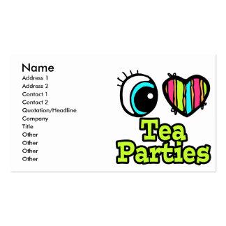 Bright Eye Heart I Love Tea Parties Business Card