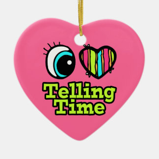 Bright Eye Heart I Love Telling Time Christmas Ornaments